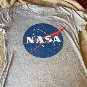 Gold crush T-shirt NASA gray sz L